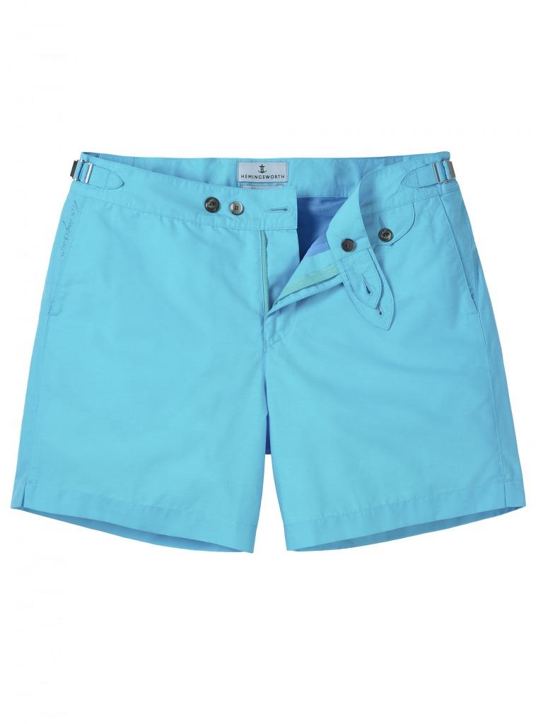 bcb3c14d64 Hemingsworth Clipper Swim Short in Azure Light Blue