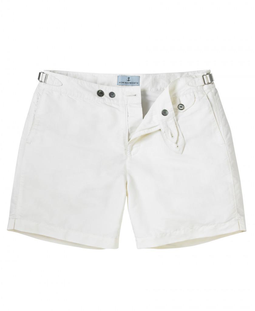 9fbaf4a4ae53e Hemingworth Clipper Swim Short in White