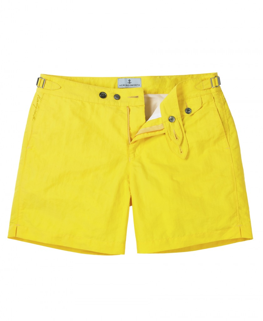 3db56c18d9 Hemingsworth Clipper Swim Shorts in Beach Yellow